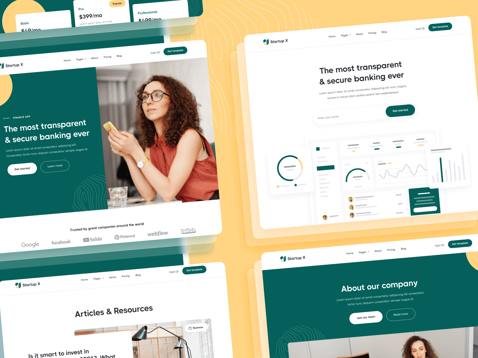 Webflow Template for Startups