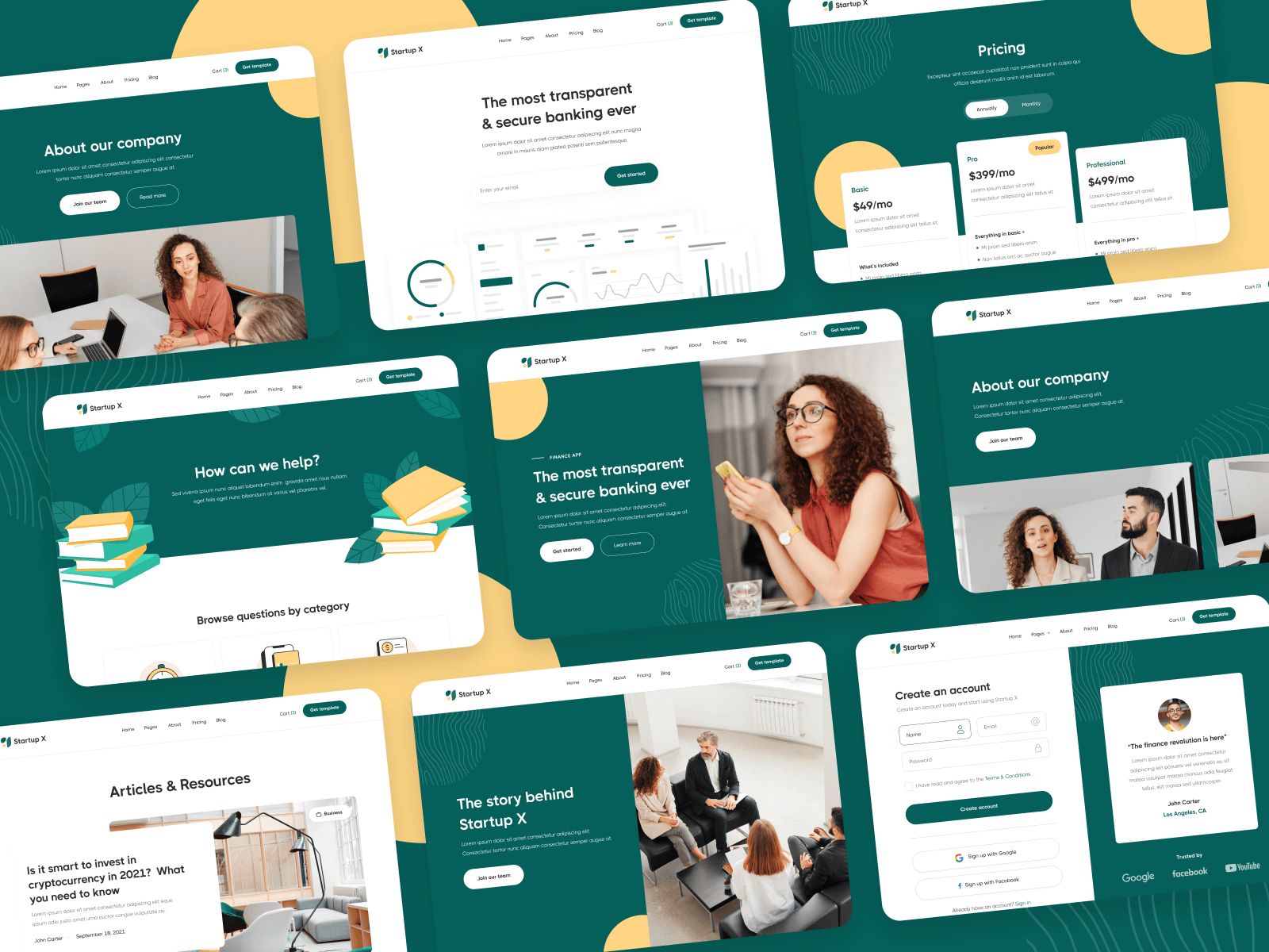 Startup Webflow Template and UI Kit