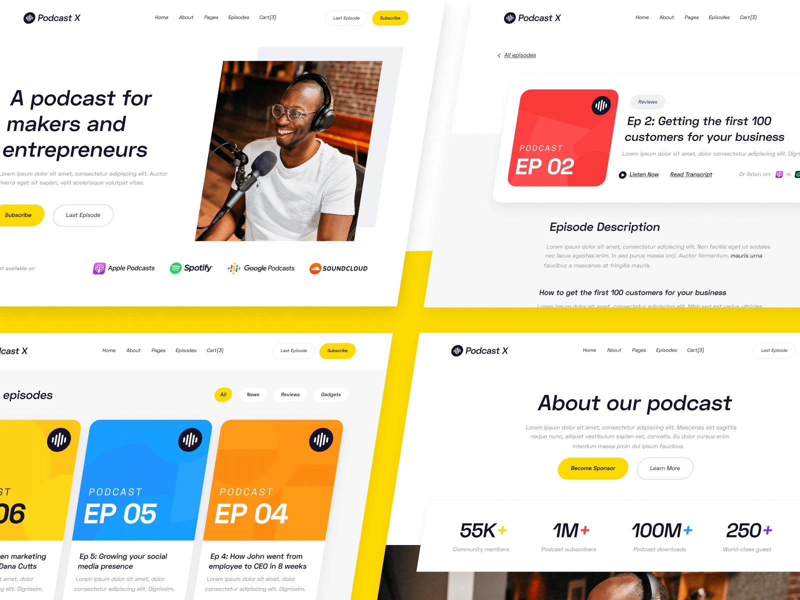 Podcast Webflow Website Theme