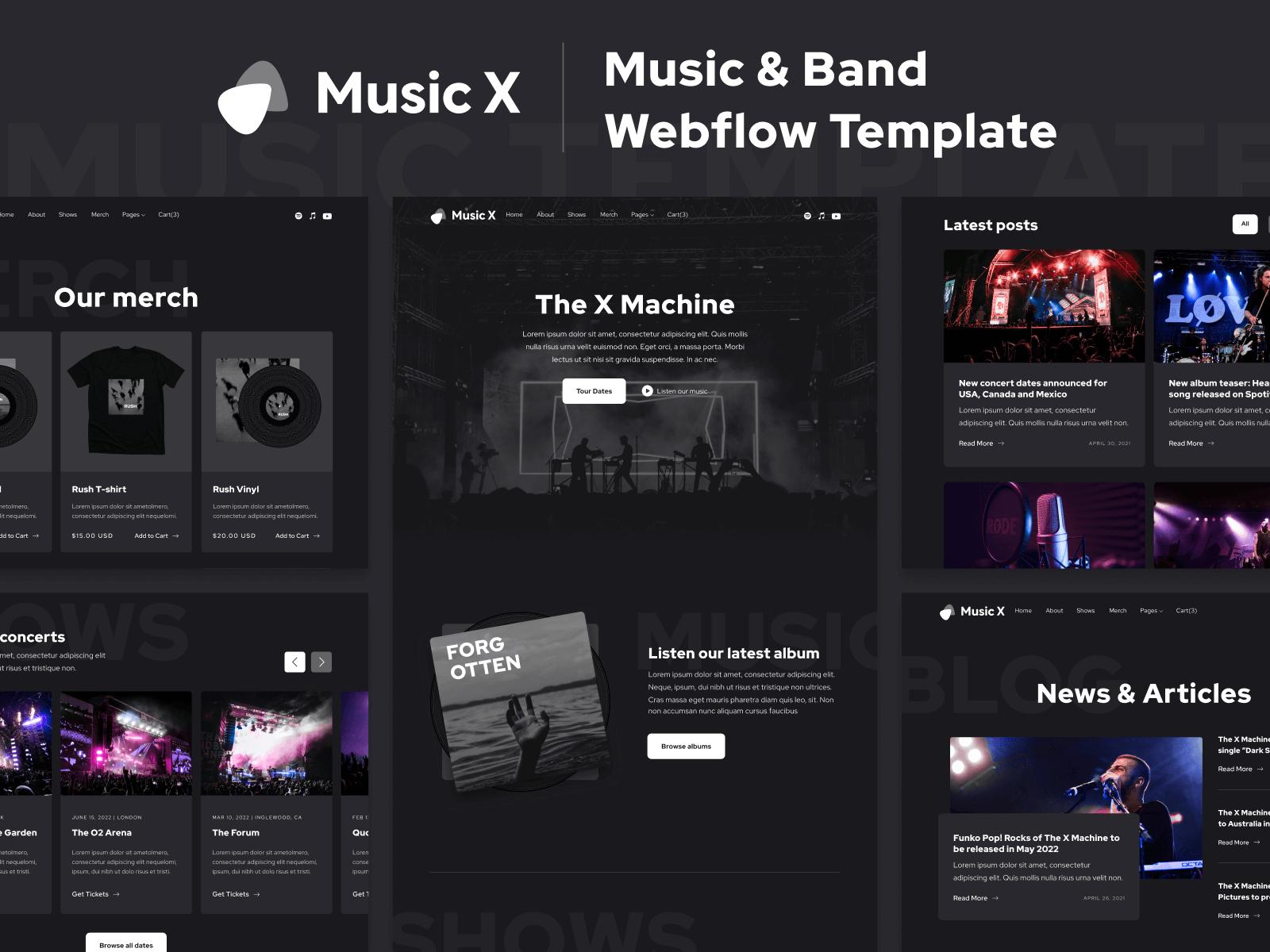 Music Webflow Template