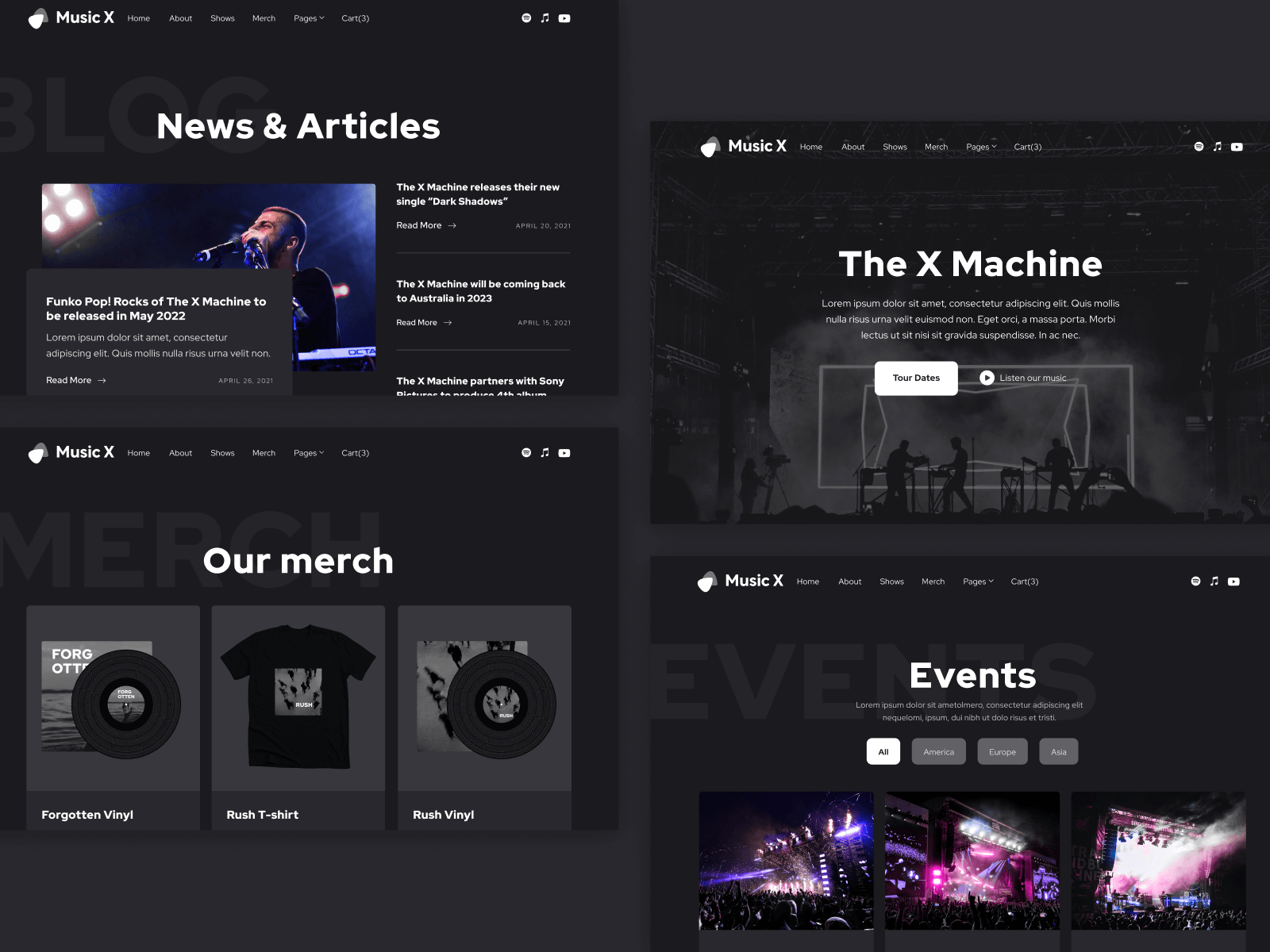Music Musician Webflow Template