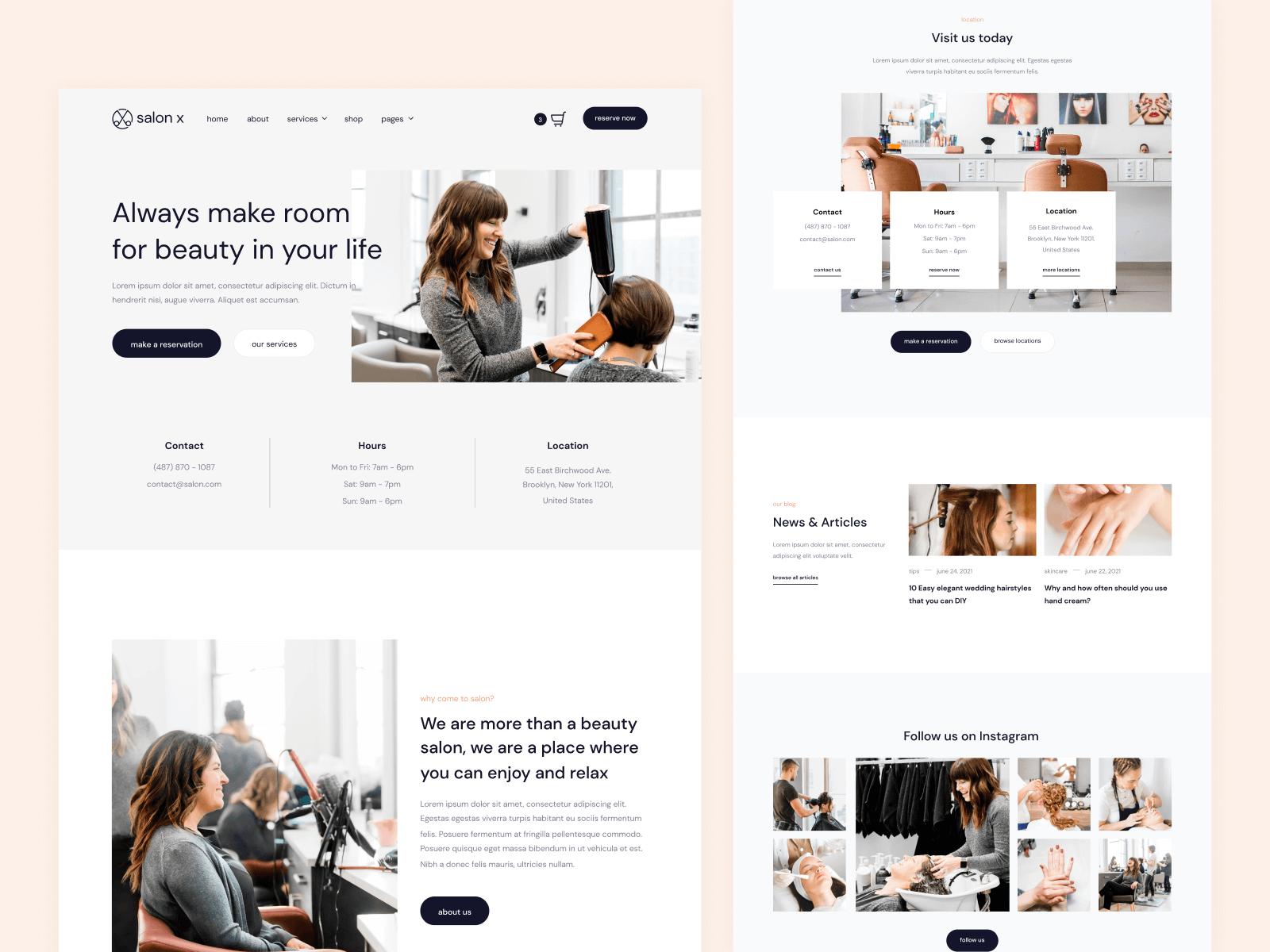 Beauty Salon Webflow Template