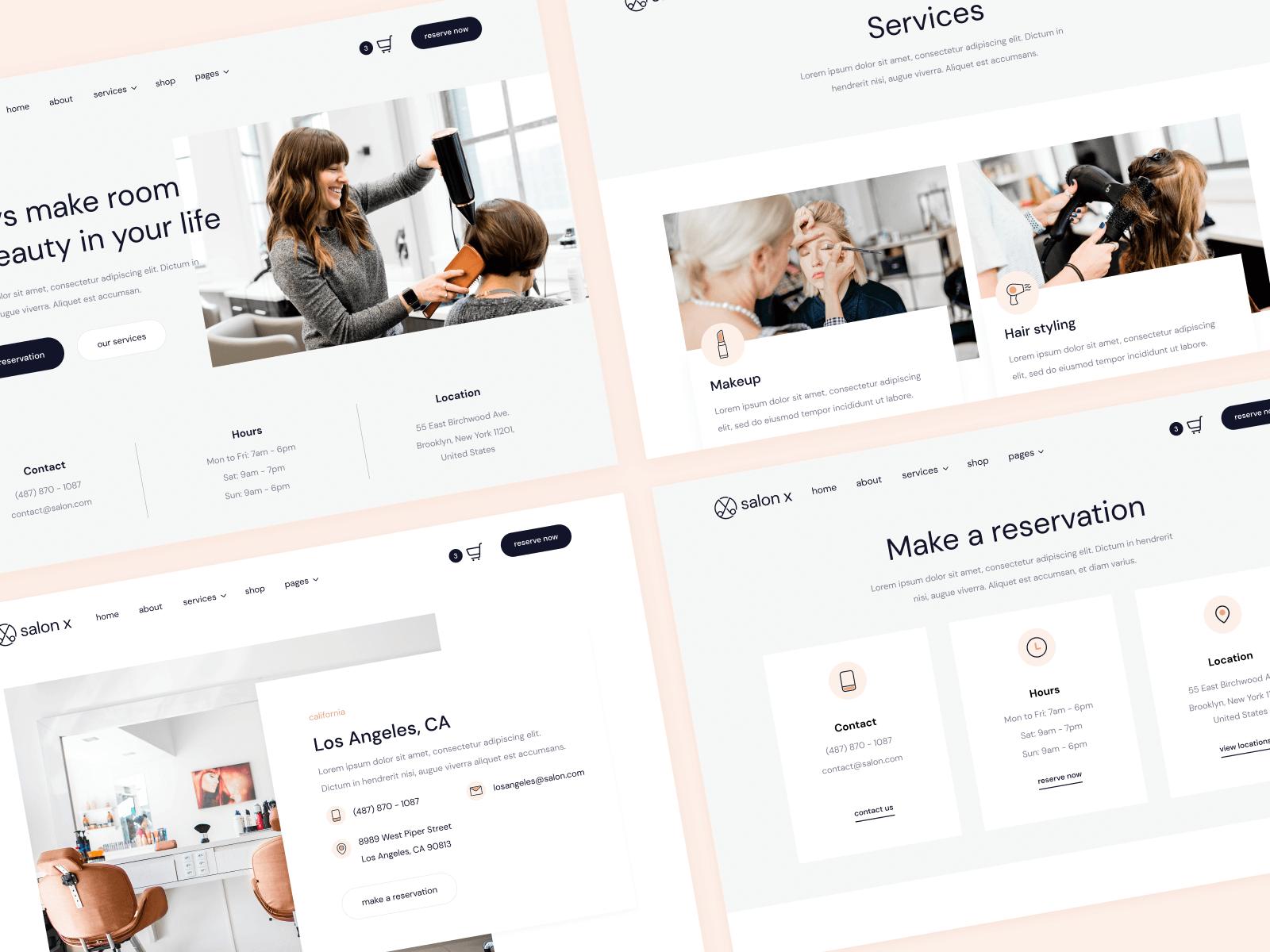 Salon Webflow Website Theme