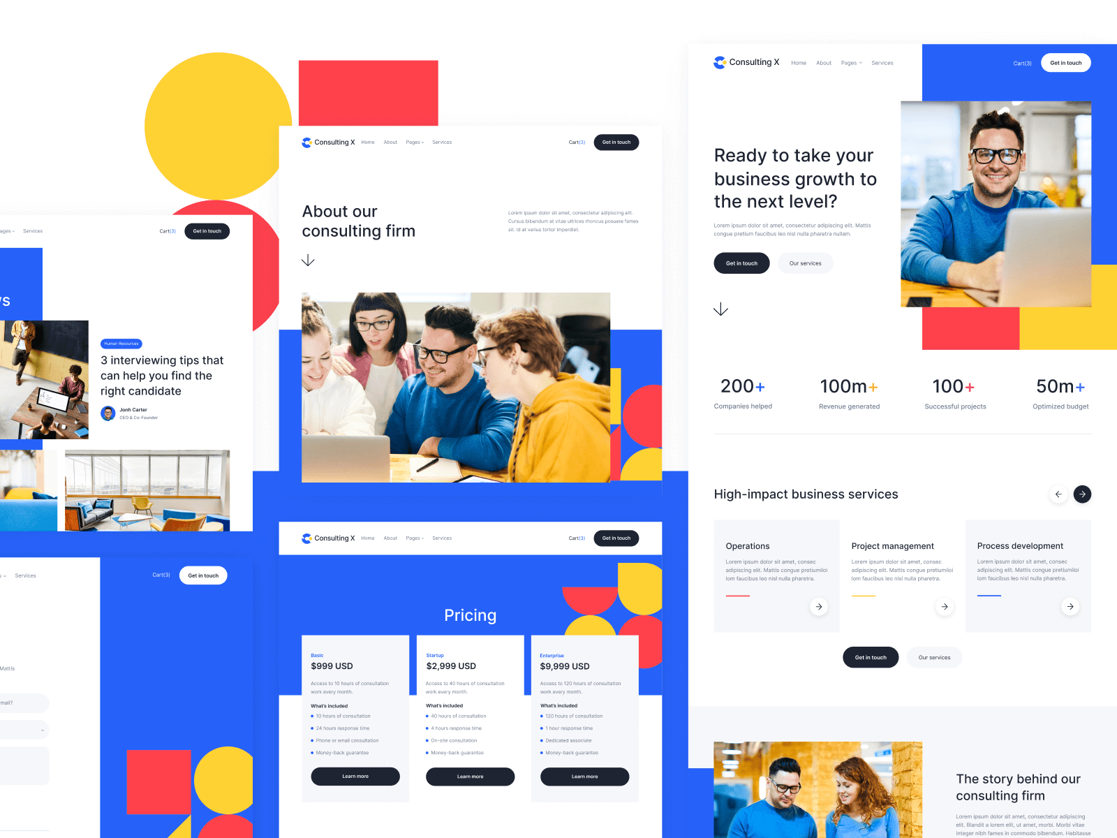 Consulting Webflow Website Template