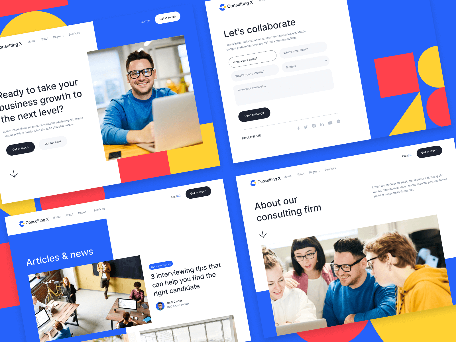 Business Consulting Webflow Template