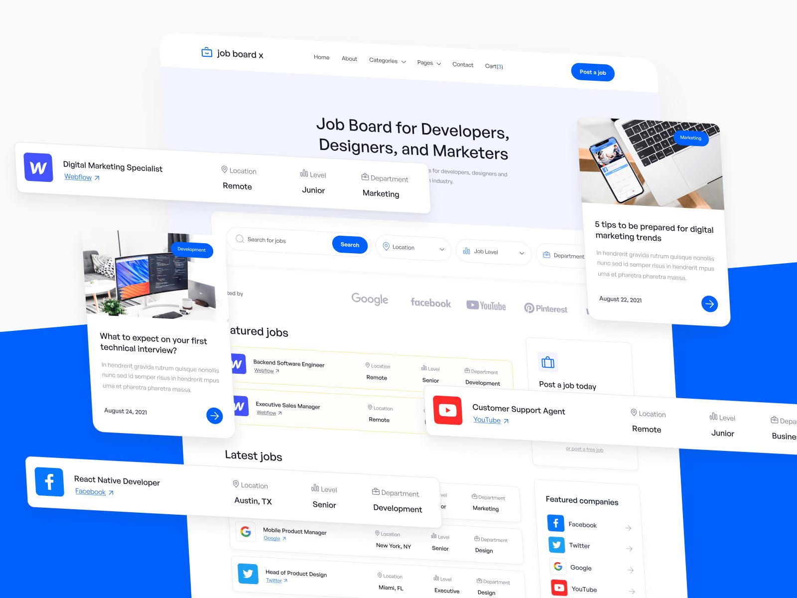 Job Portal Webflow Template