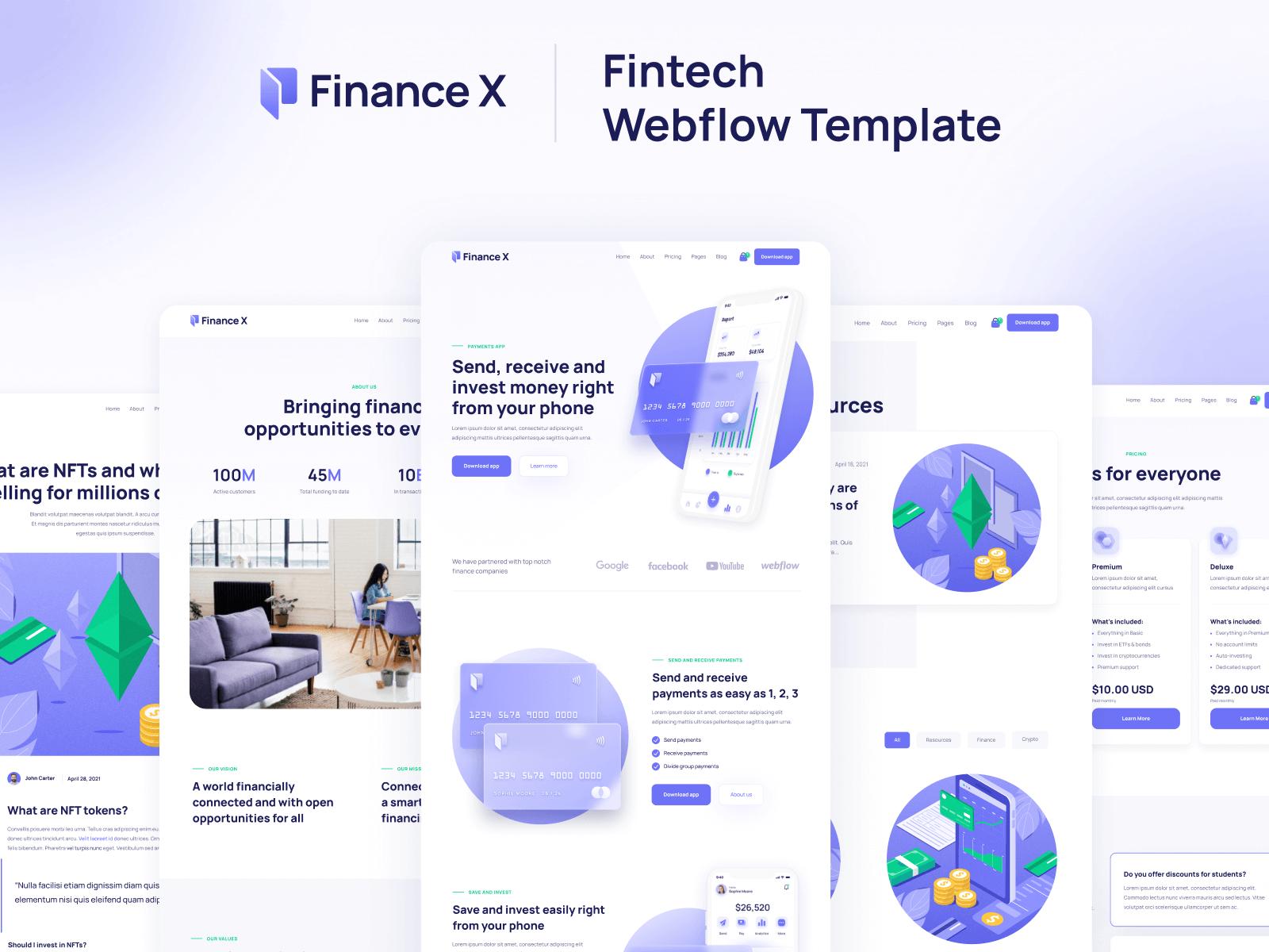 Finance Webflow Template