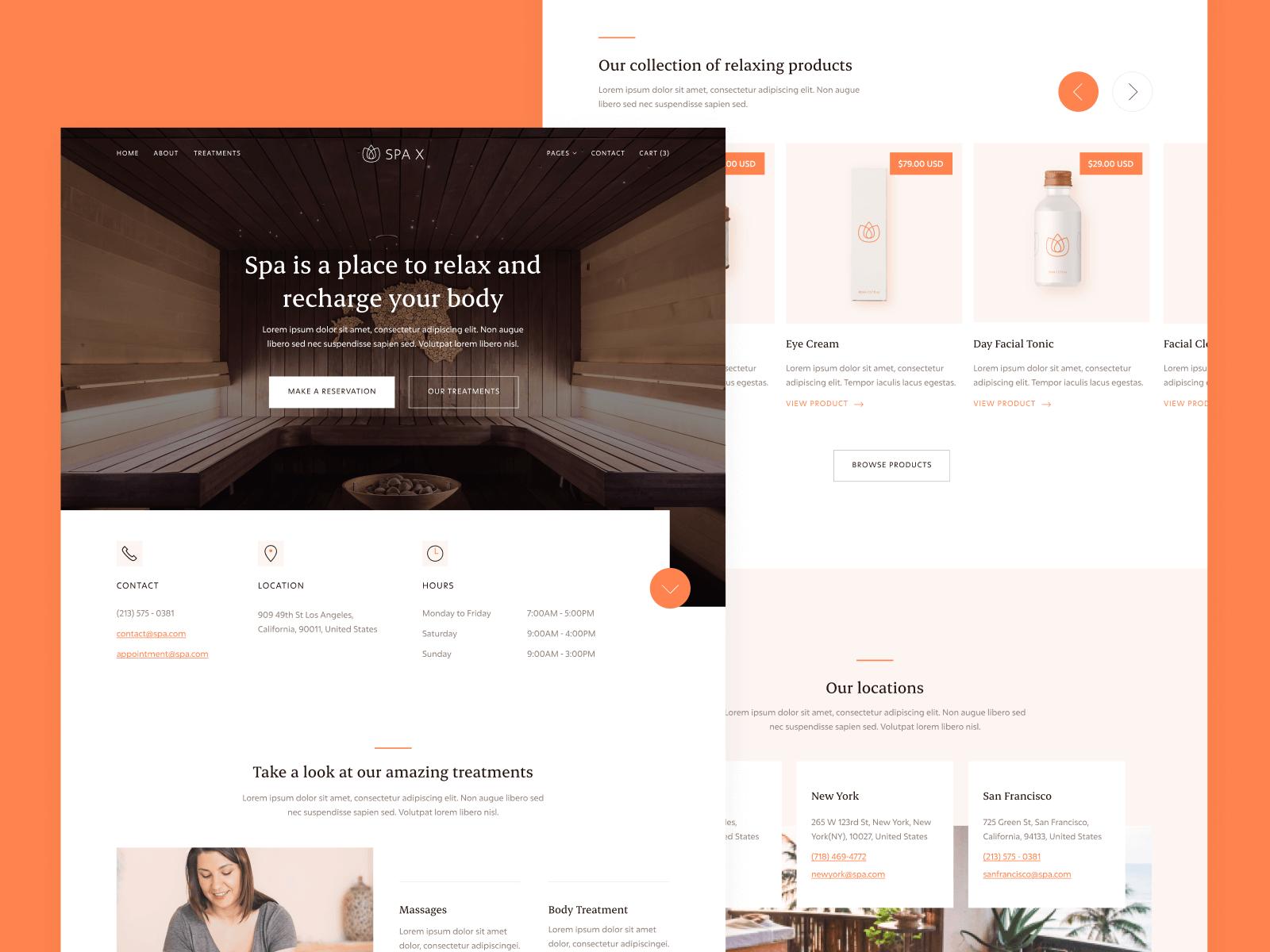 Spa Webflow Template