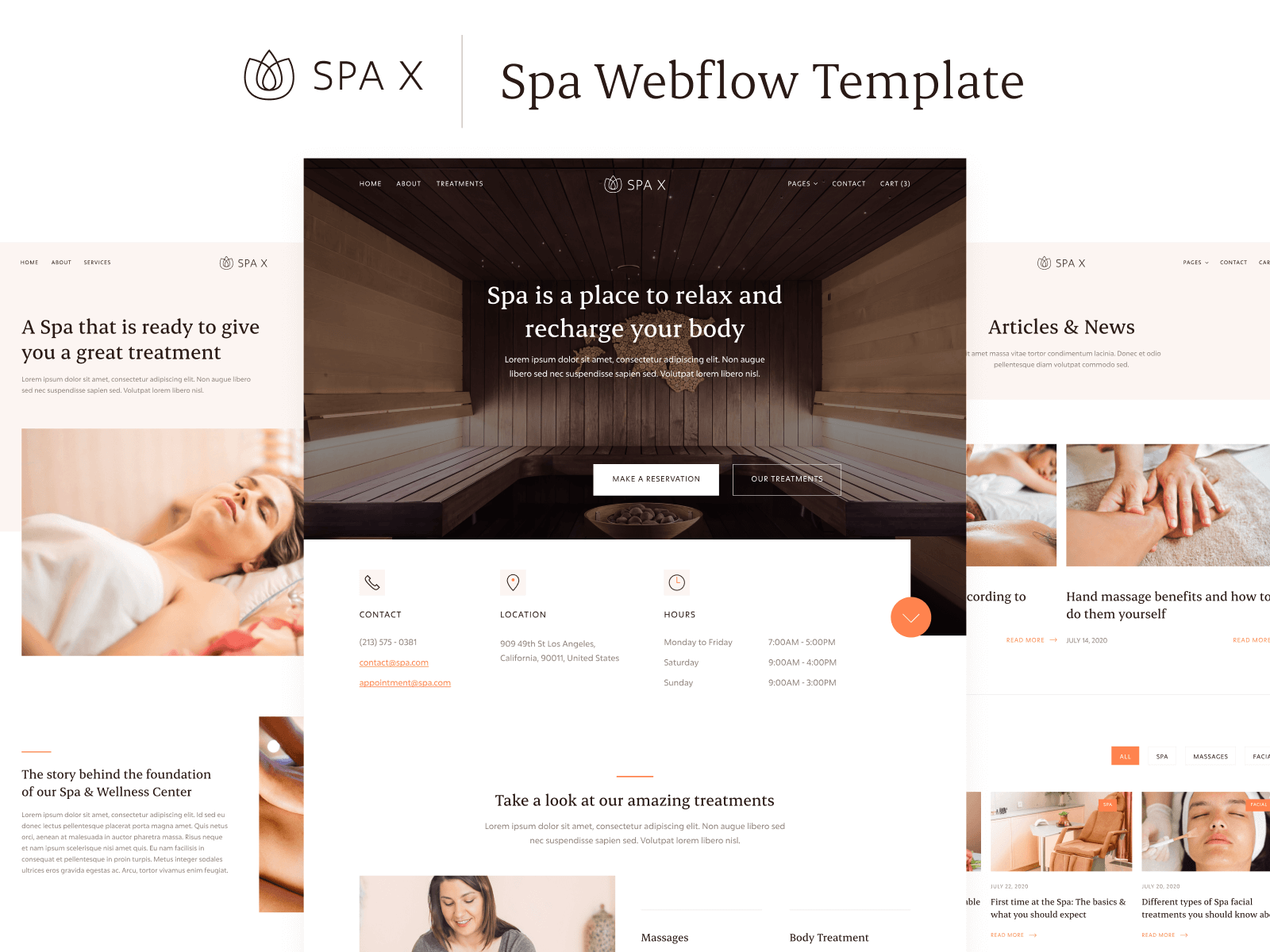 Resort Spa Webflow Template