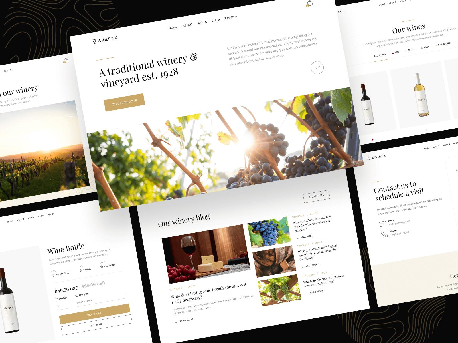 Winery Webflow Theme