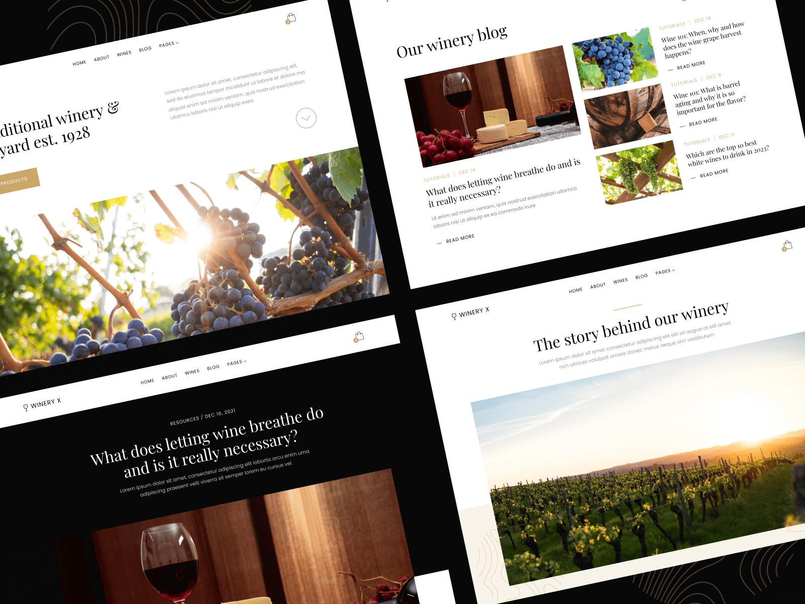 Wine Store Webflow Template
