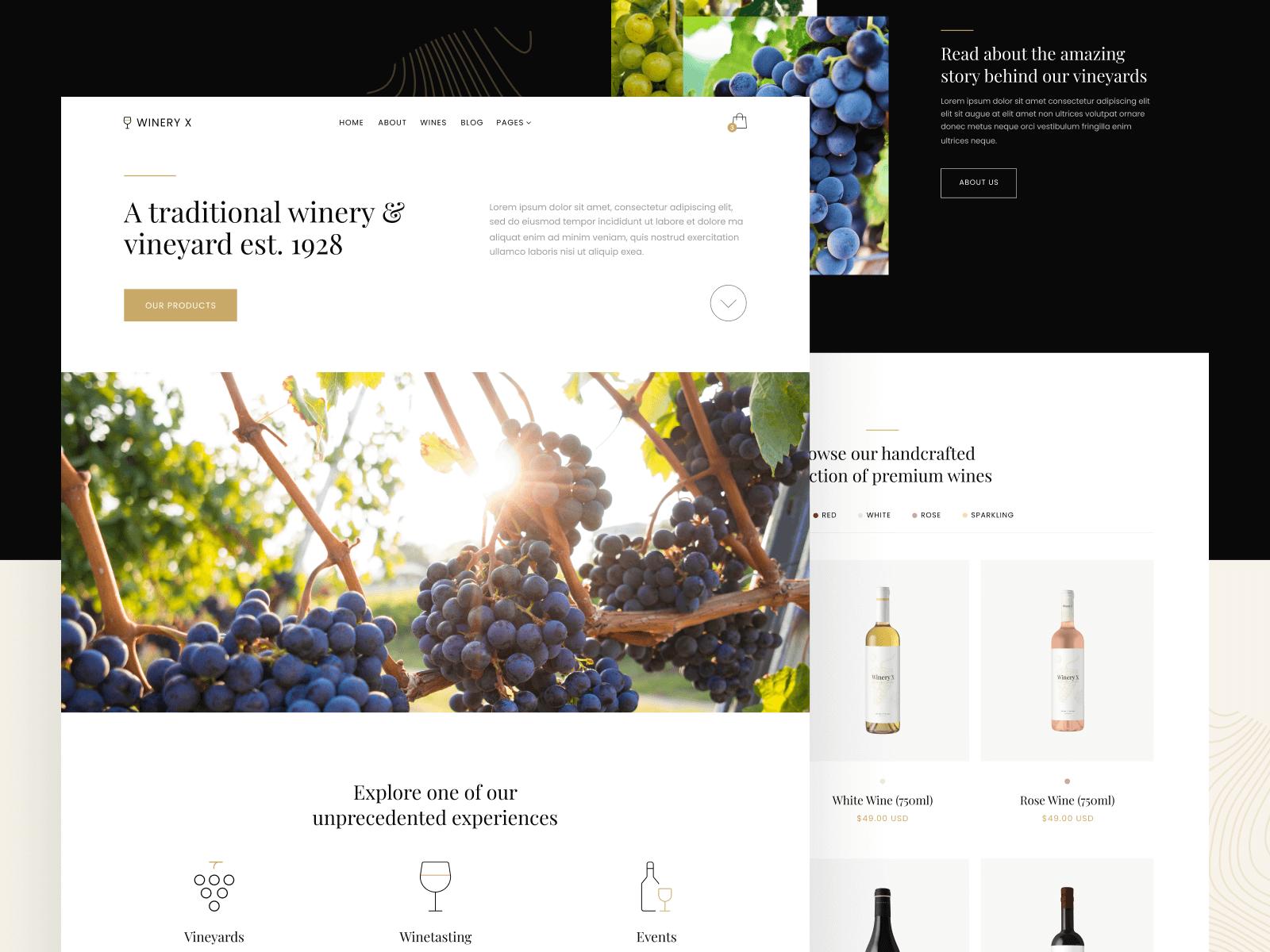 Winery Vineyard Webflow Template