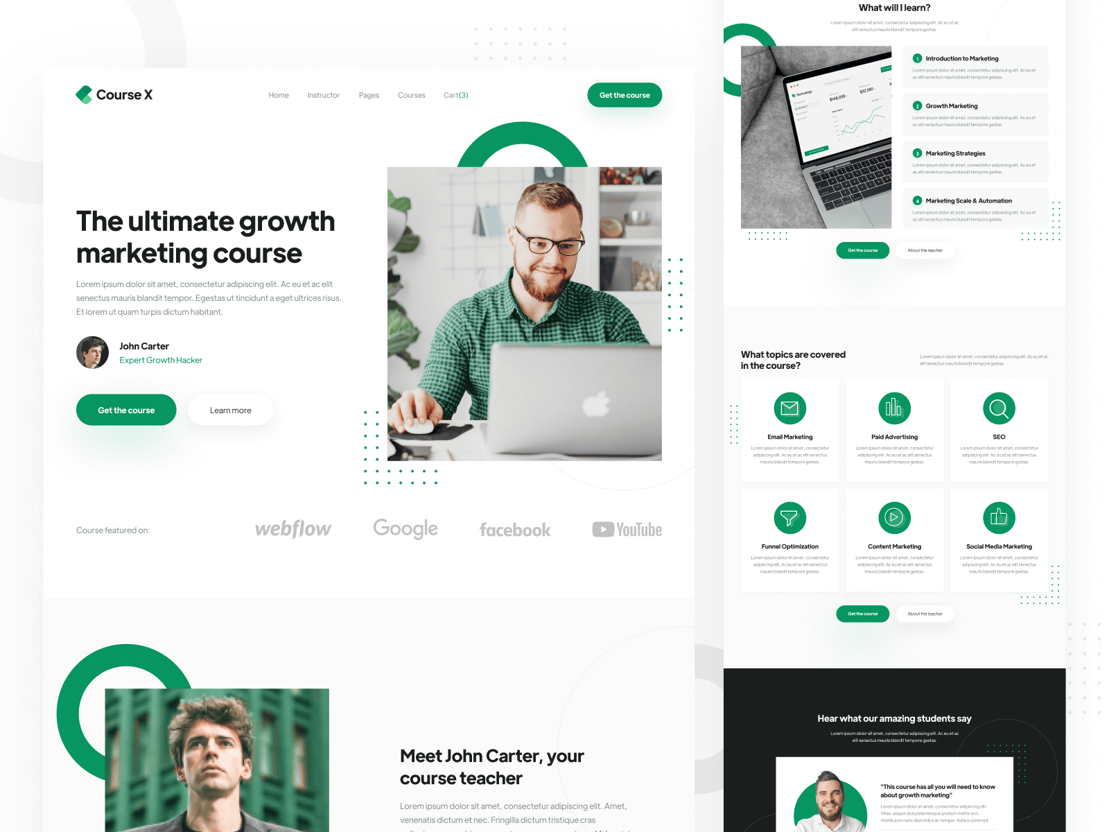 Online Course Webflow Template