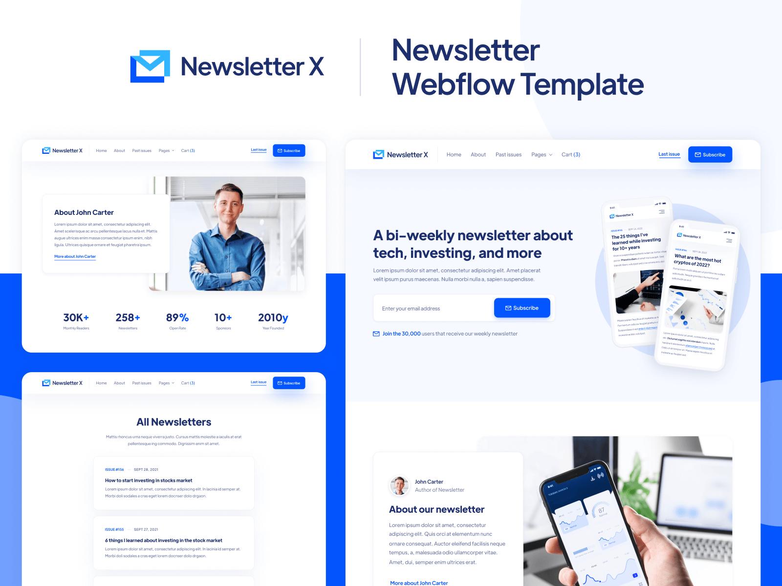 Newsletter Webflow Template