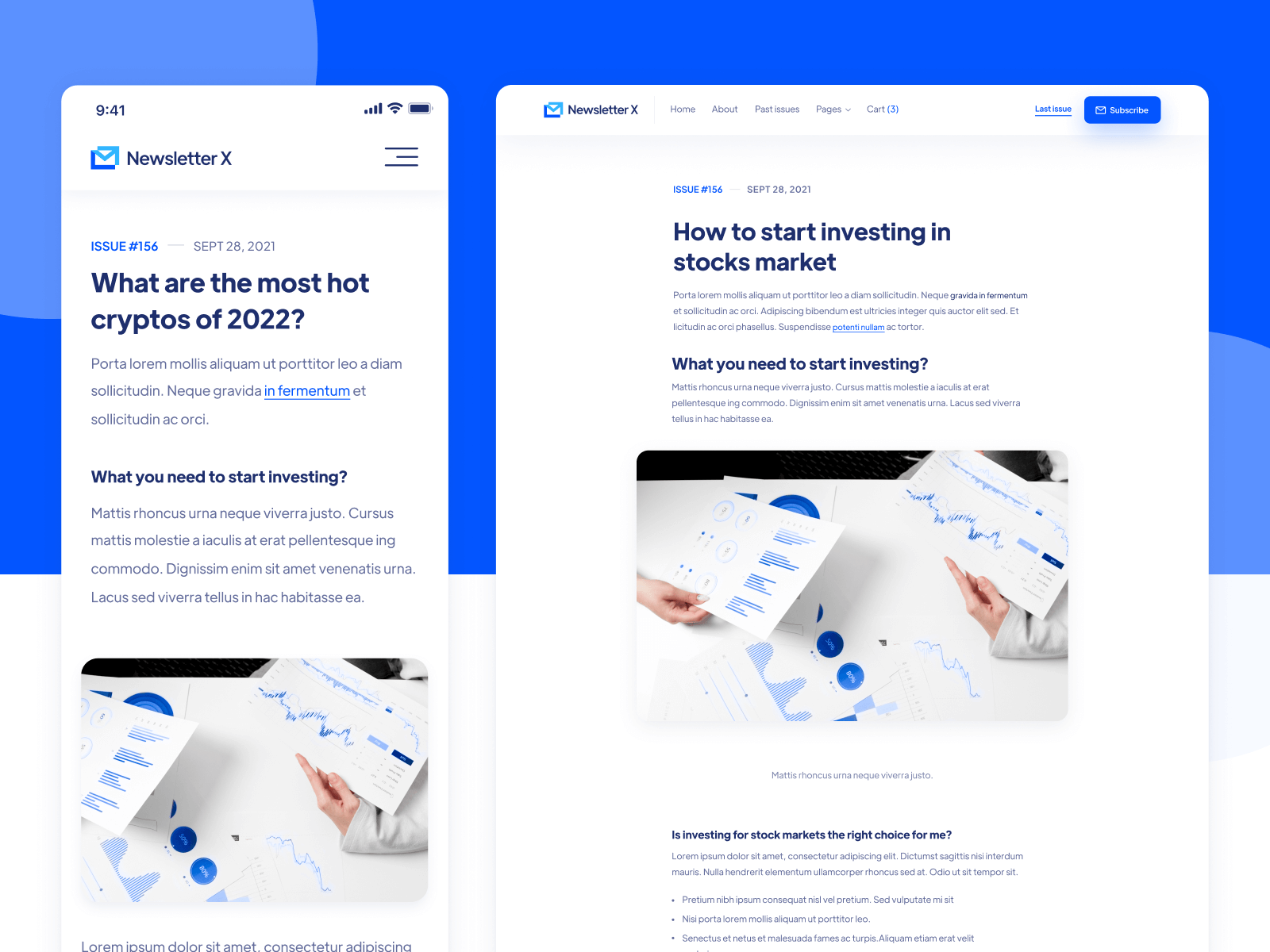 Substack Email Webflow Website Template