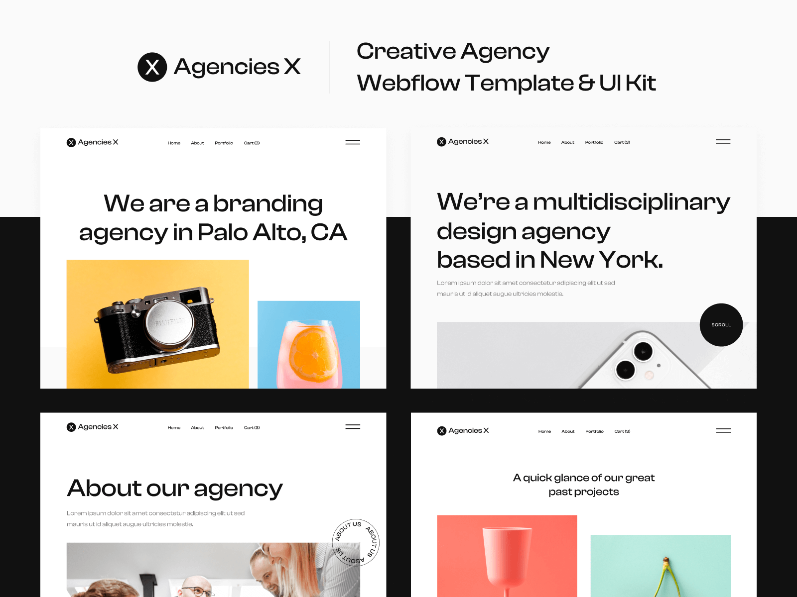 Agency Webflow Template and UI Kit
