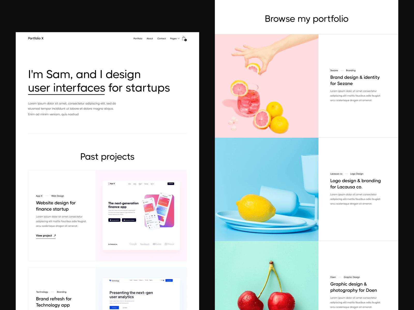 Portfolio Webflow Template & UI Kit