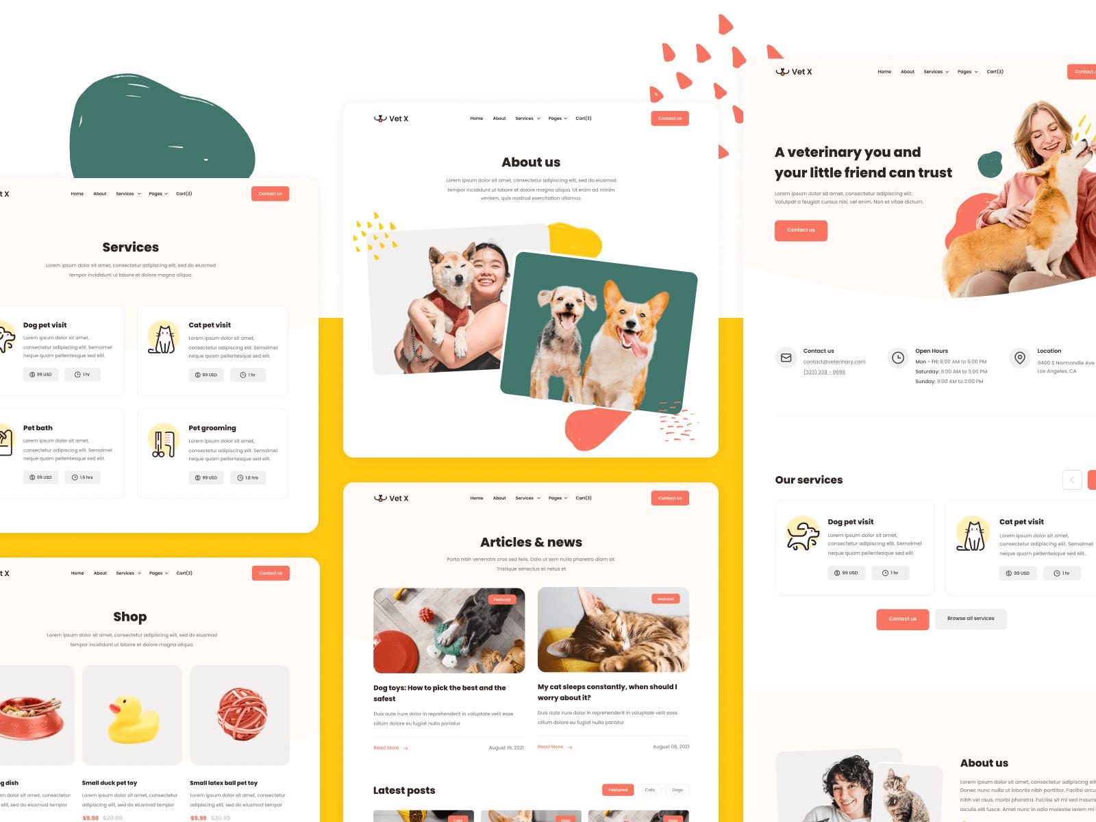 Vet Pet Doctor Webflow Template