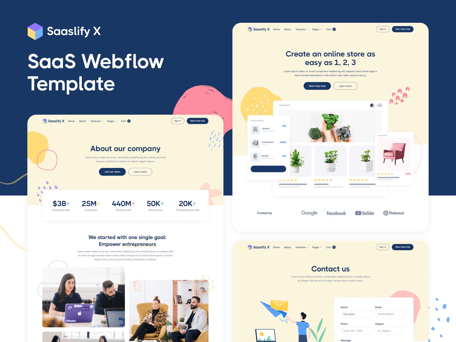 SaaS Webflow Template
