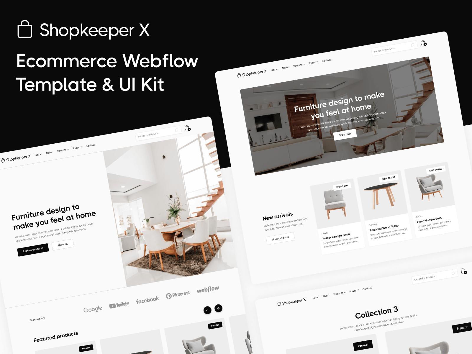 Online Shop Webflow Template
