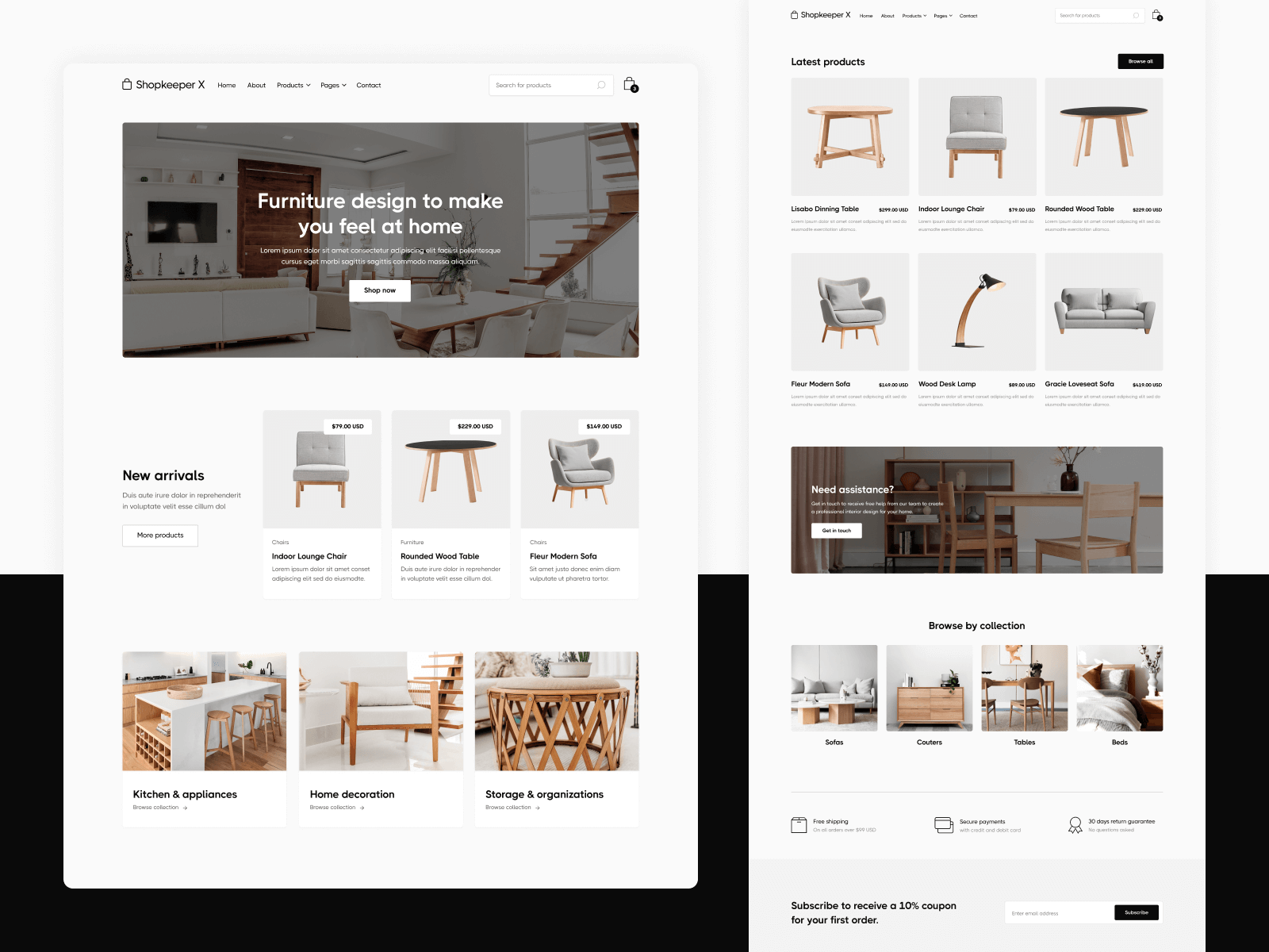 Ecommerce Store Webflow Template