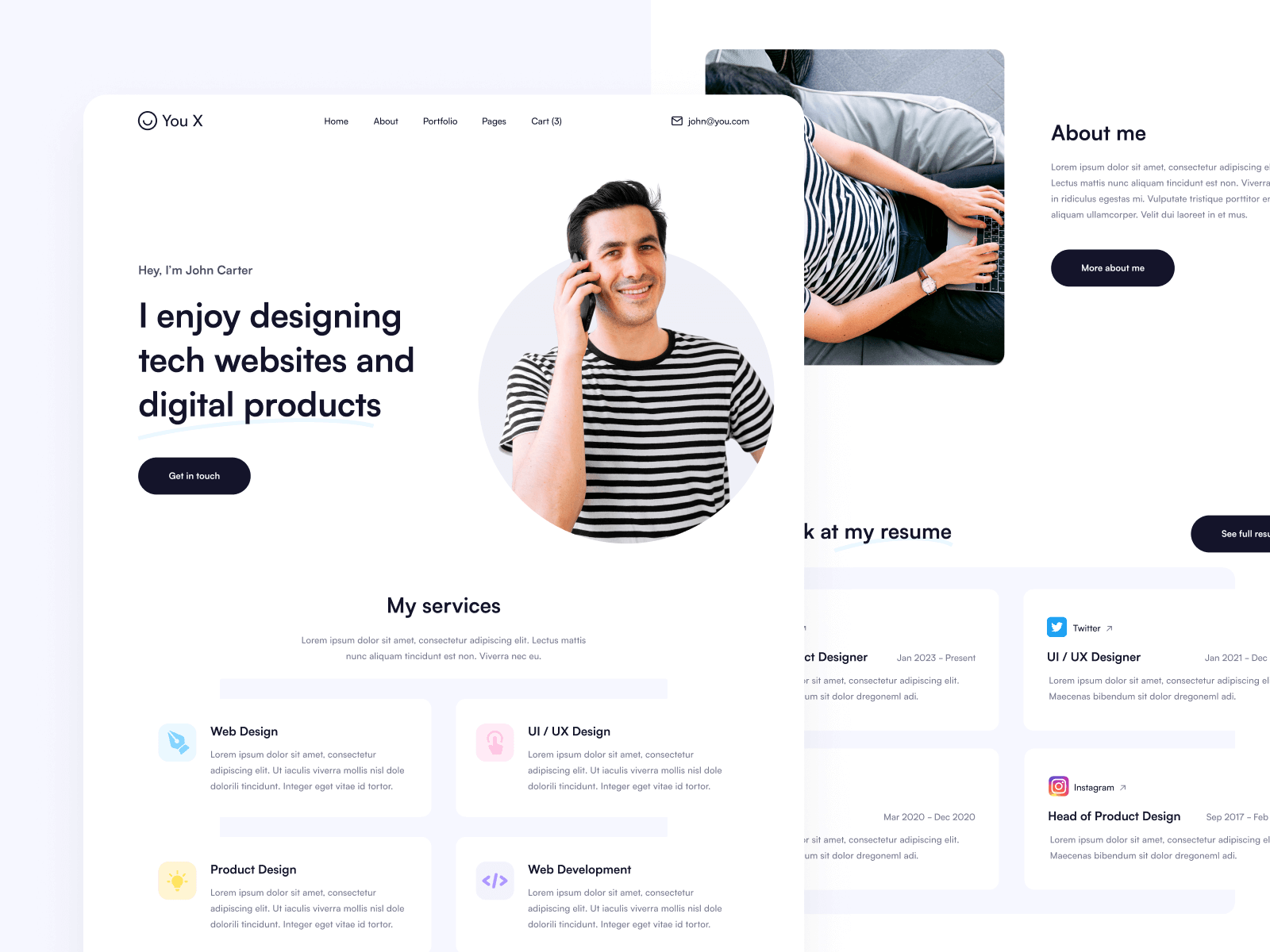Personal Brand Webflow Template