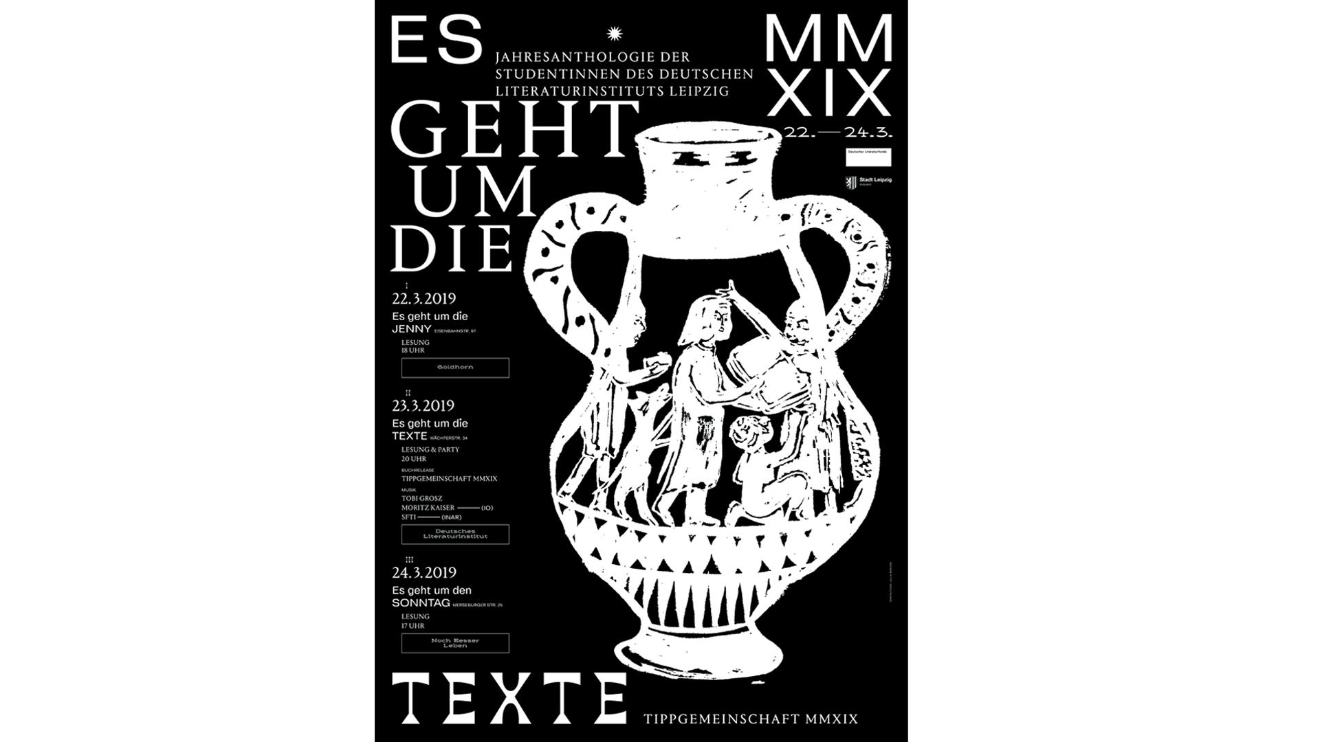 Studio Goof Julia Boehme Poster Design Literaturinstitut Verlangsbuchhandlung Plakat Illustration