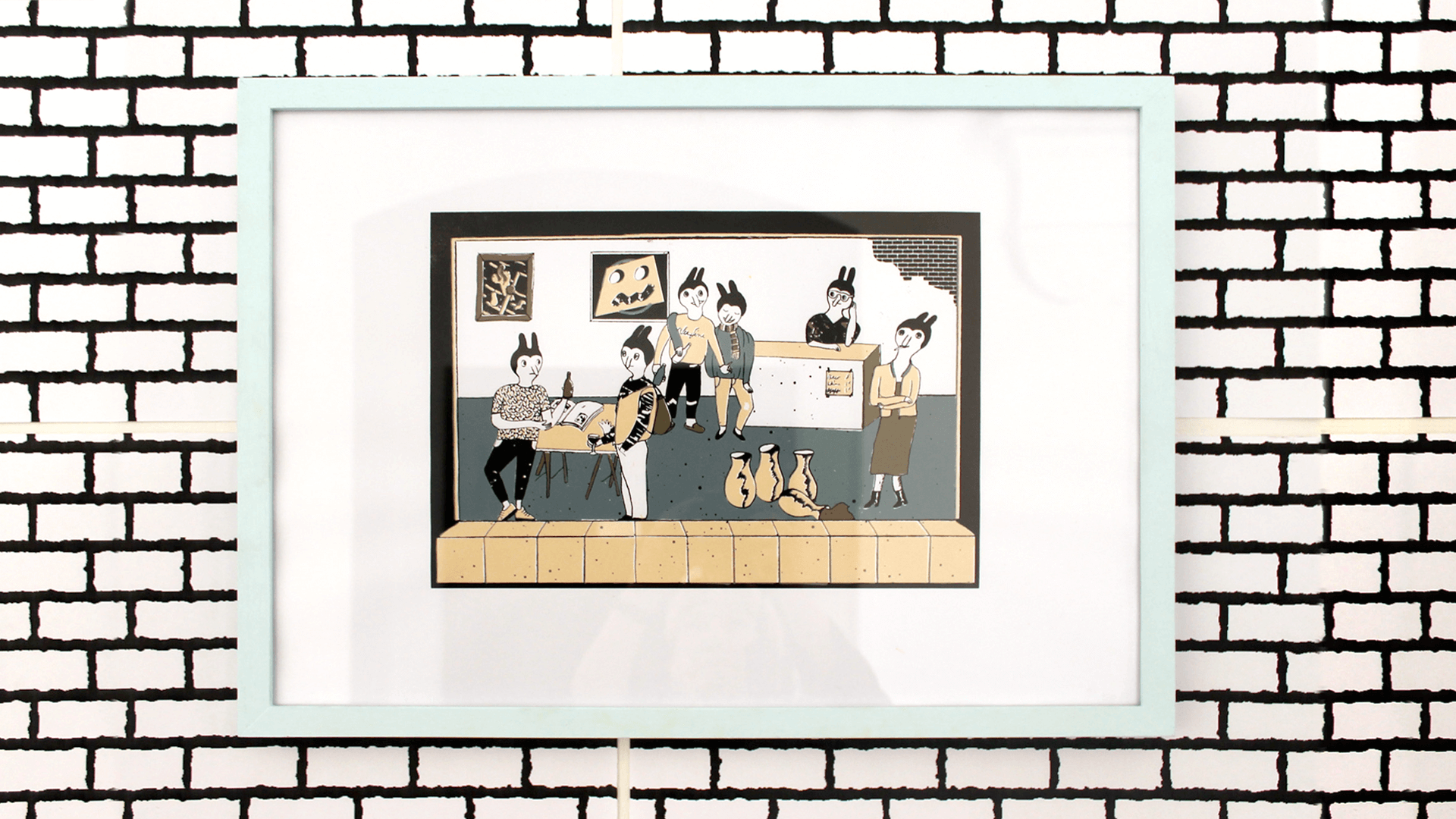 Studio Goof Julia Boehme Siebdruck Silk-screen Poster Illustration Gallery Hochschule für Grafik und Buchkunst Leipzig