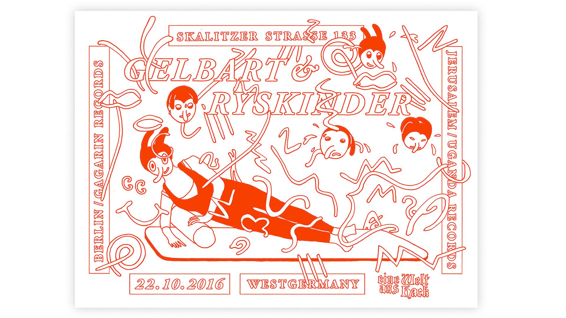 Studio Goof Julia Boehme Poster Design Berlin Show Poster Gelbart Ryskinder Plakat Illustration