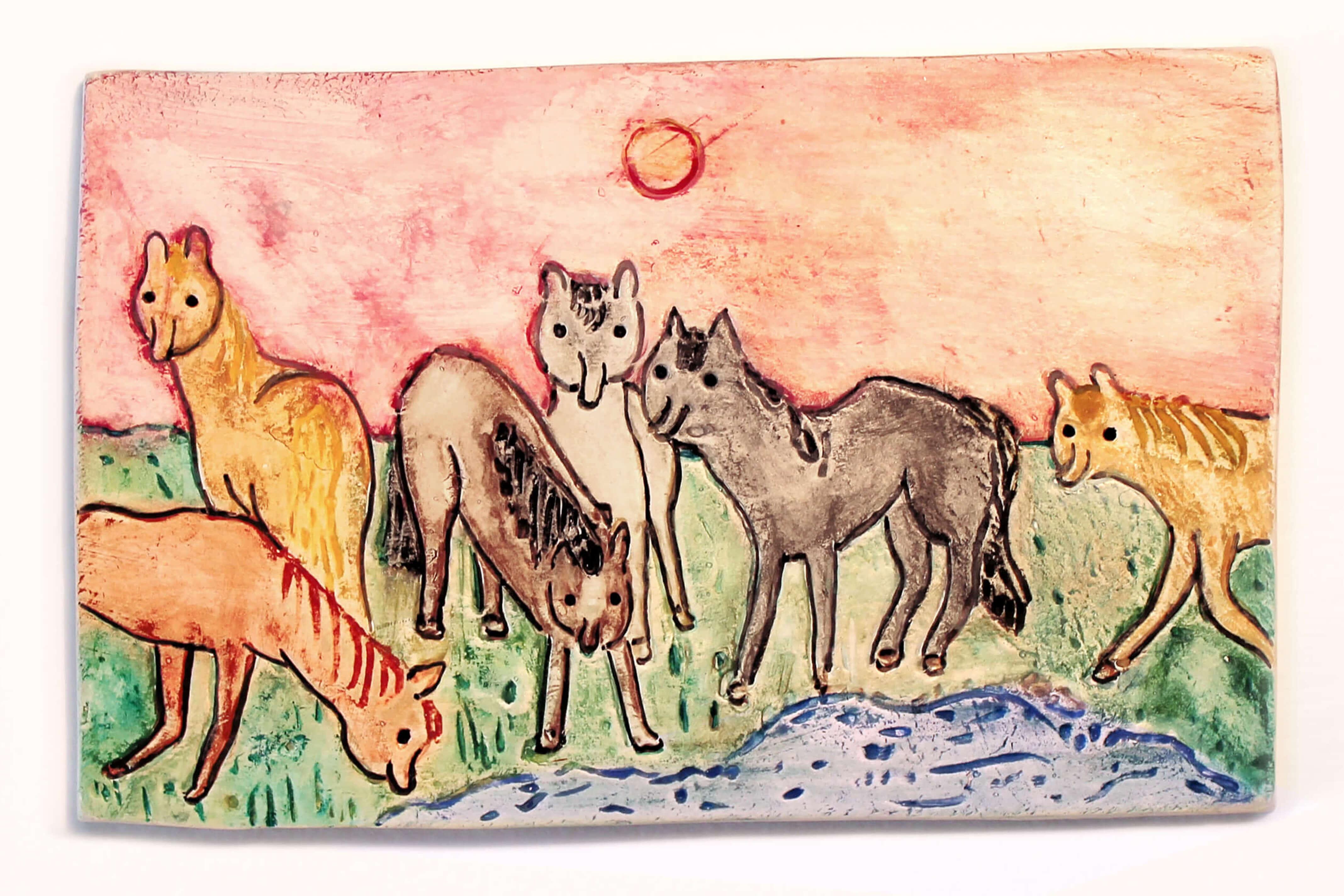 Julia Boehme Studio Goof Illustration Leipzig Ceramic Pottery Horses