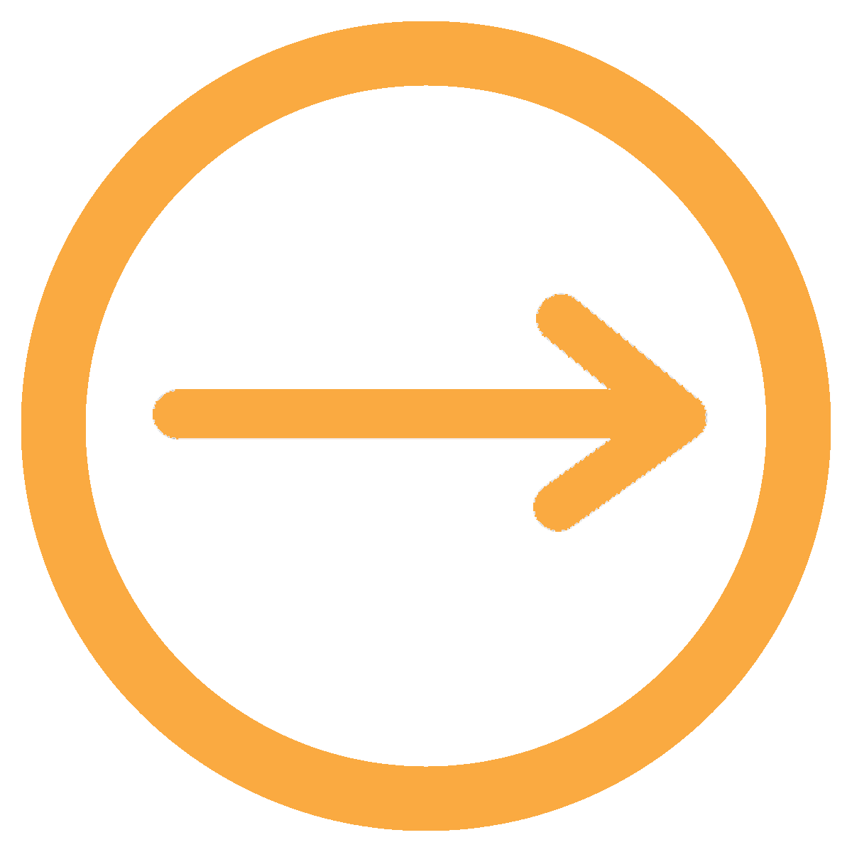 fleche cercle orange