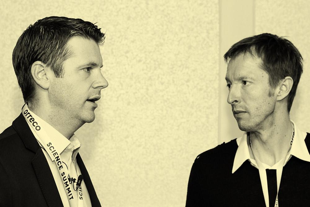 El Dr. Andy Barr y el Dr. Nathan Lewis intervienen en una cumbre de Orreco