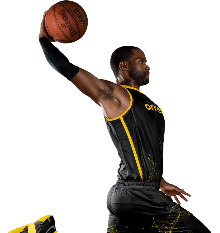 NBA Athlete Dunking basketball