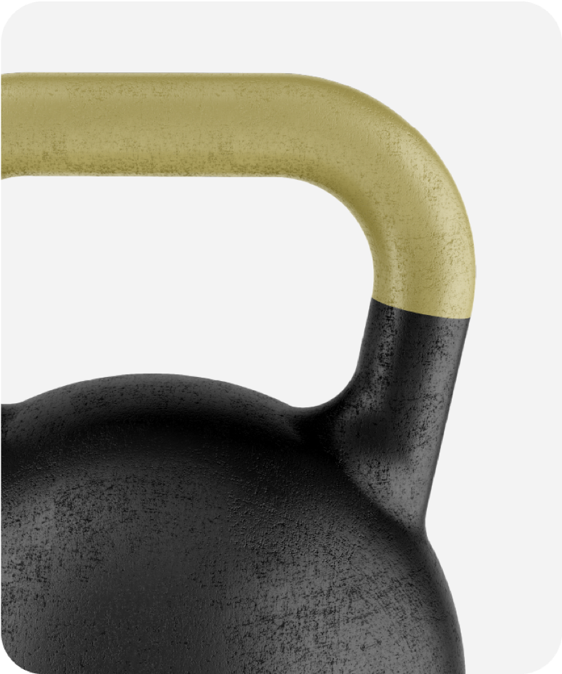 Cropped view of a kettlebell