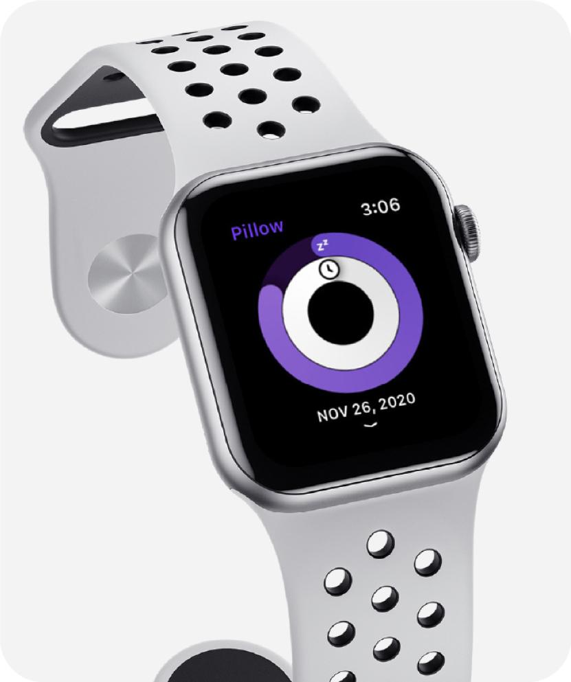Apple watch displaying sleep app