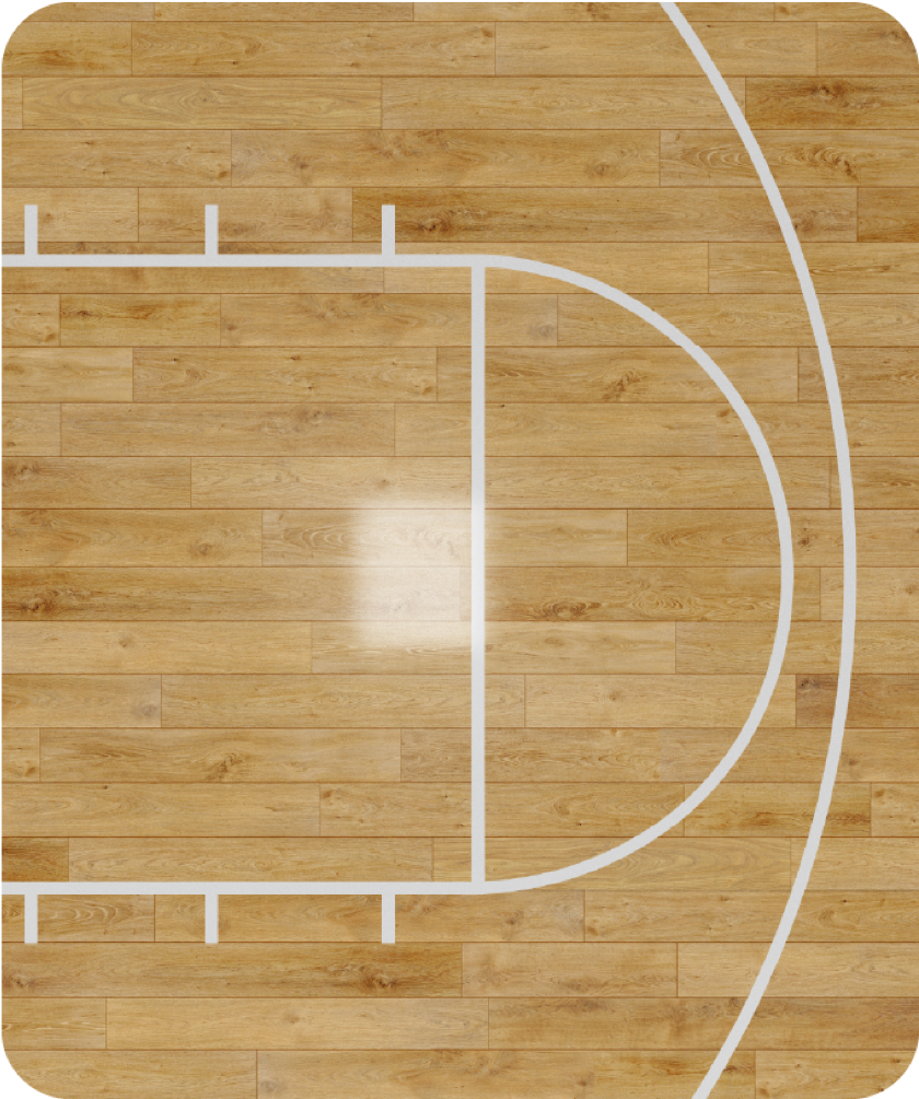 Basketball court view from above