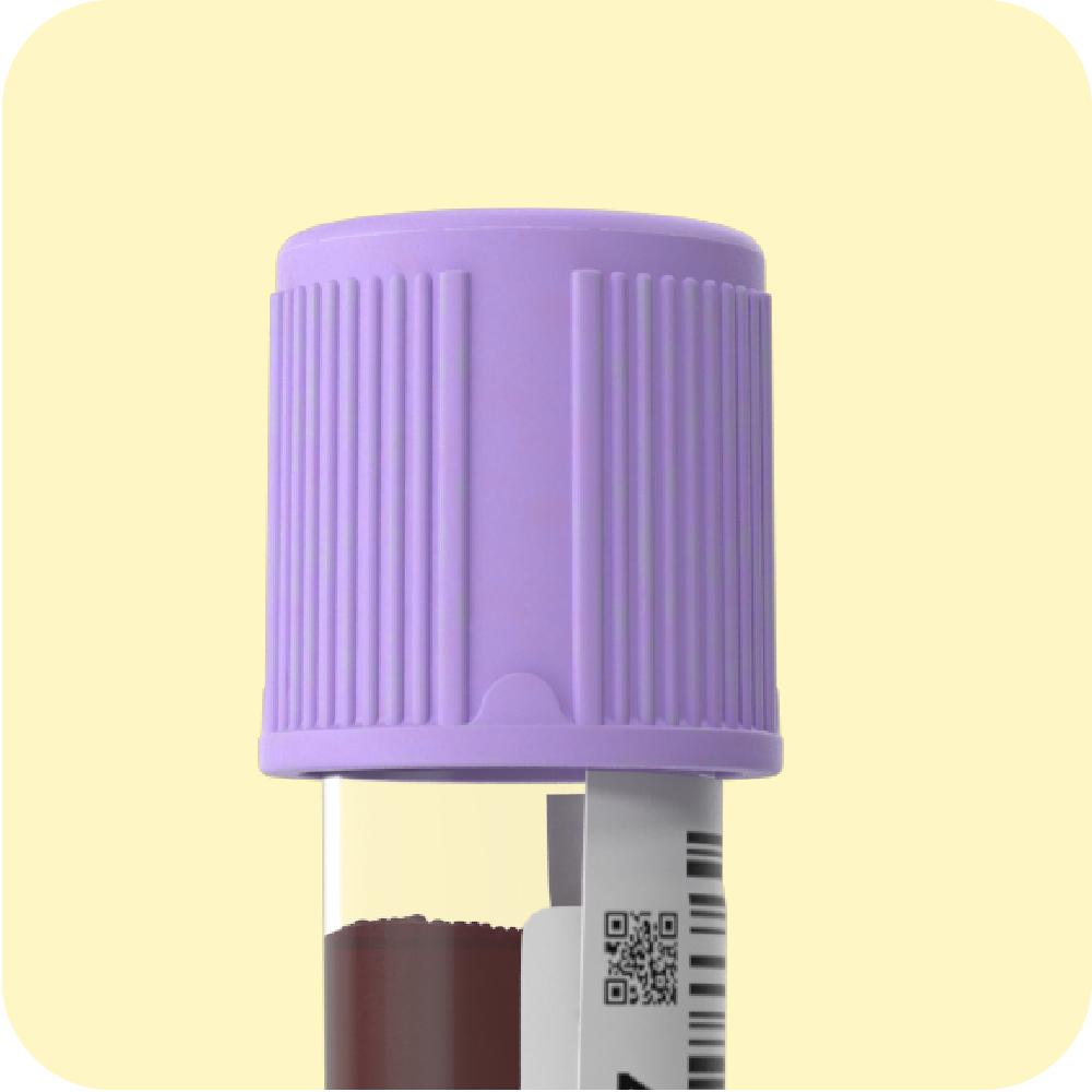 Ilustración del tubo de ensayo de un biomarcador