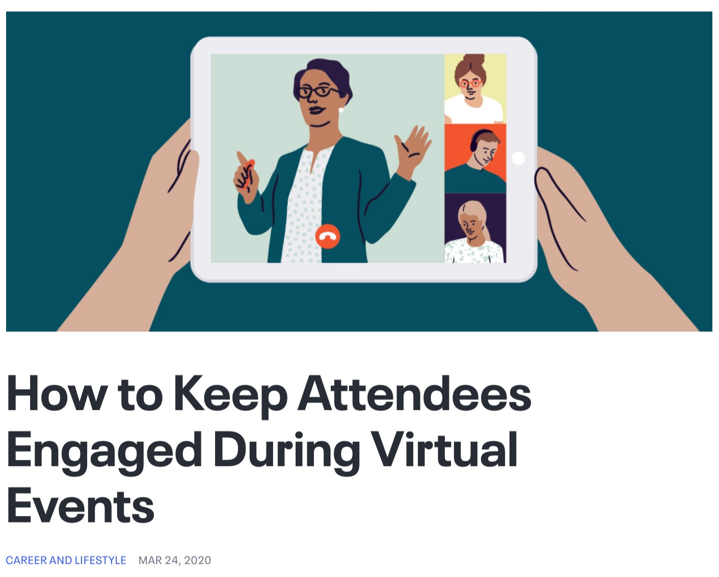 How to Keep Attendees Engaged During Virtual Events