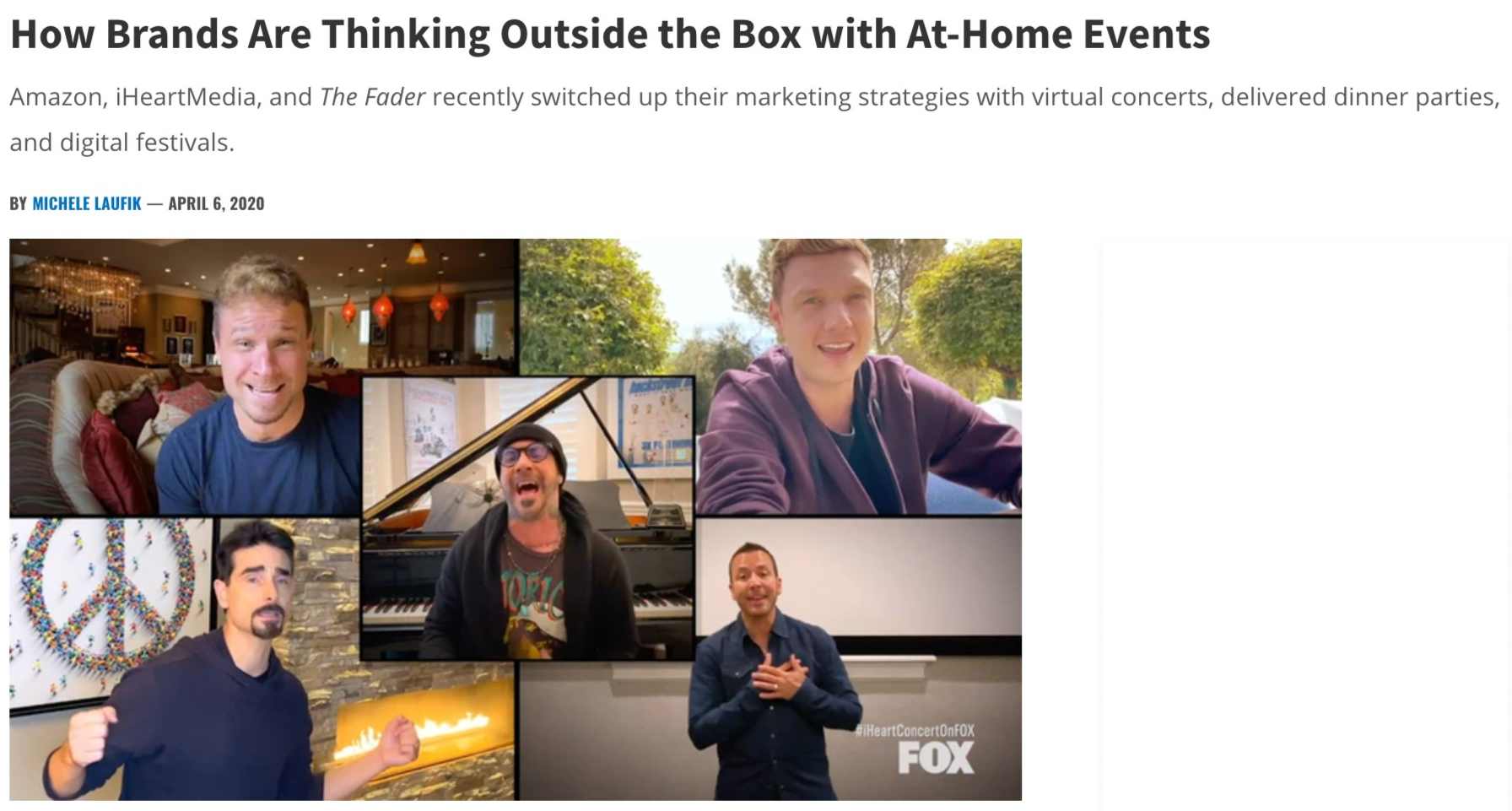 How Amazon or iHeartMedia Are Hosting Virtual At-Home Events