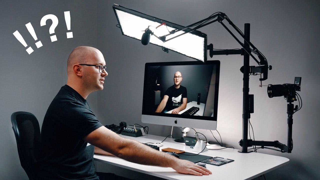 Entire Youtube Studio Setup ON ONE DESK! - YouTube