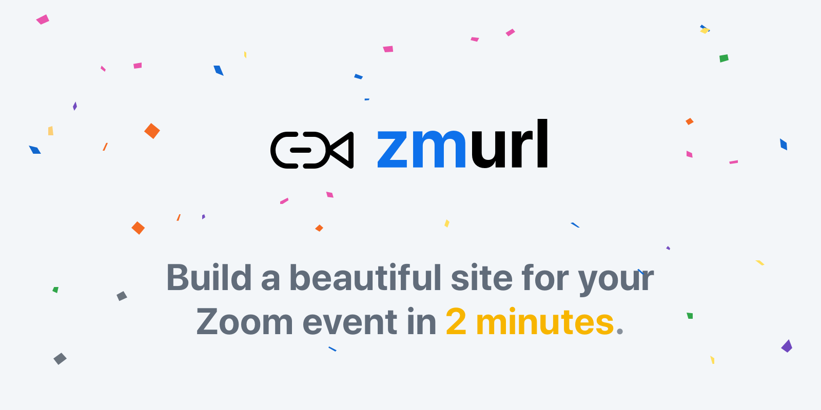 Zmurl - Beautiful Website for Your Zoom Event