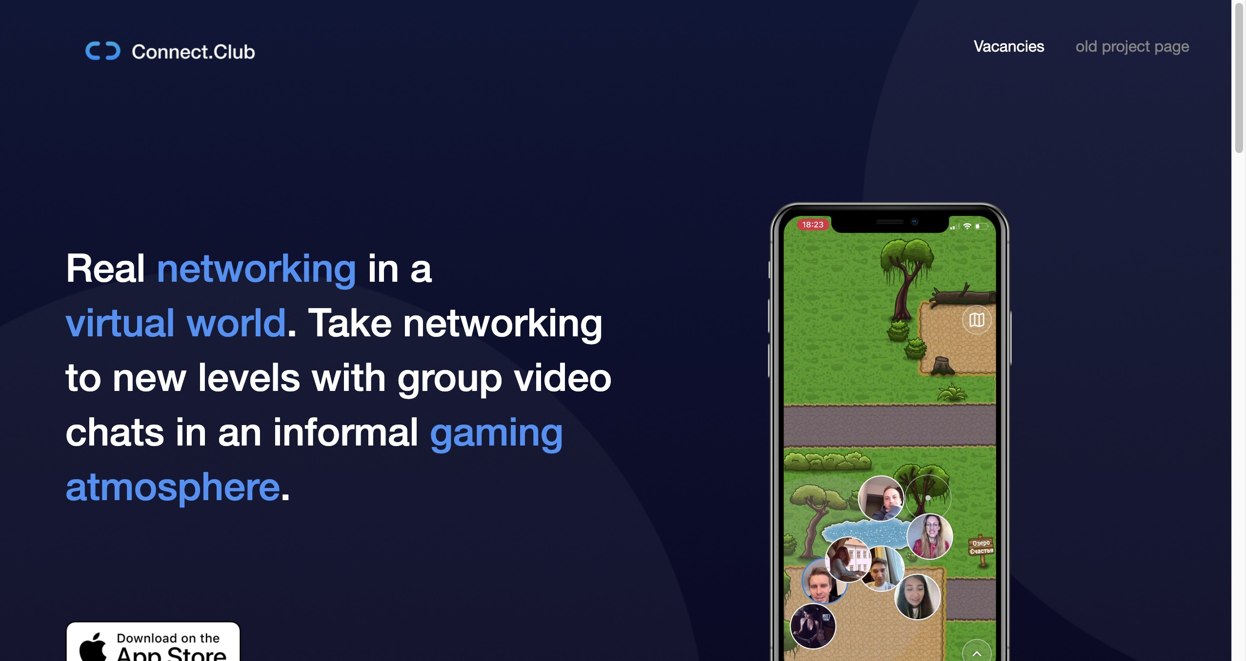 Connect.club - Real networking in a virtual world.