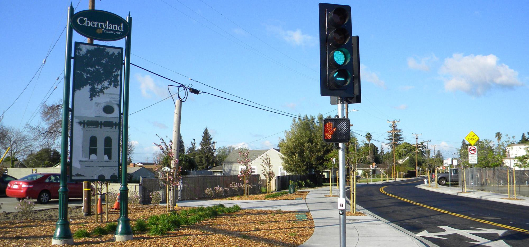 Cherryland gateway sign