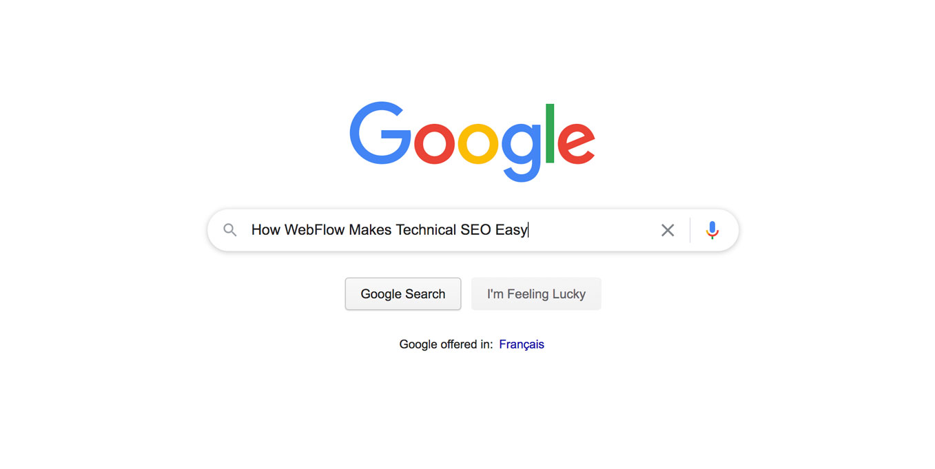 "A image of a Google Search for ""Top WebFlow SEO Tips"""