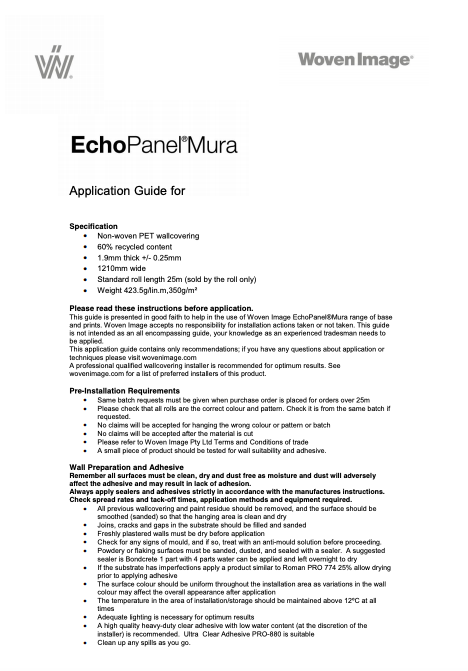 Mura Application Guide