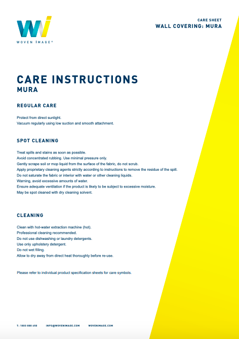 Mura Care Instructions
