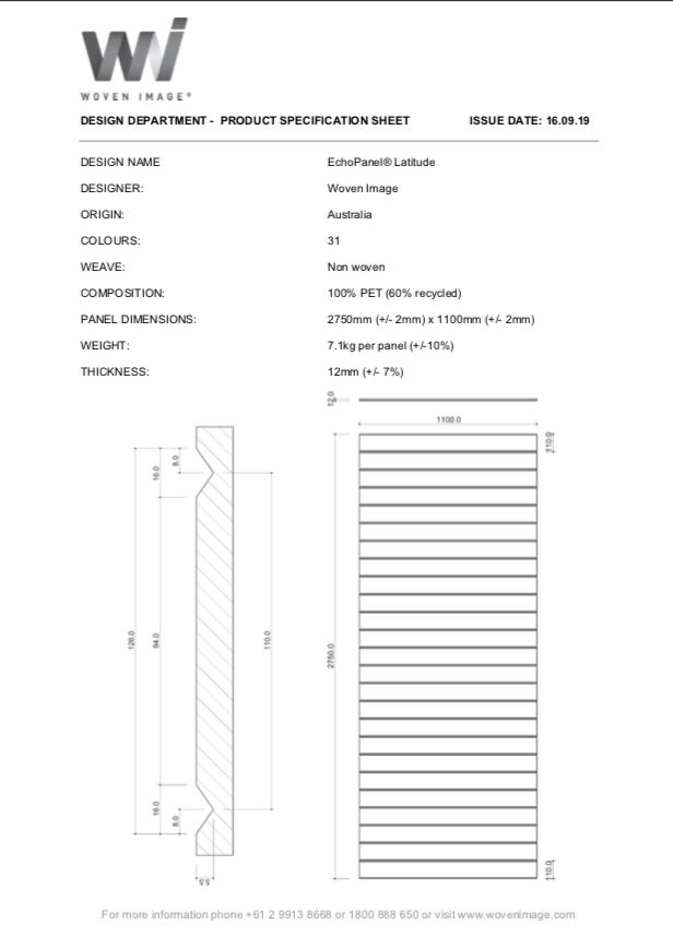 EchoPanel Latitude Product Specification