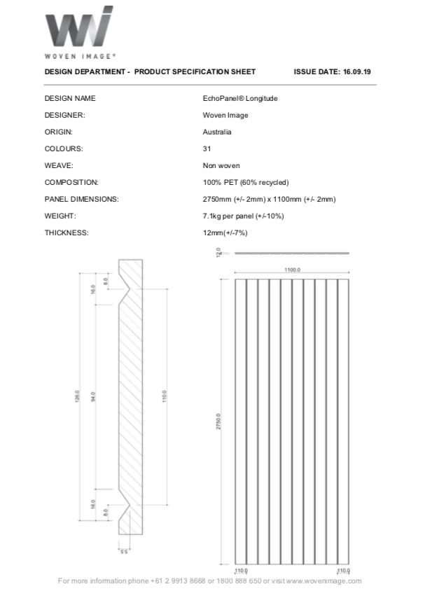 EchoPanel Longitude Product Specifications
