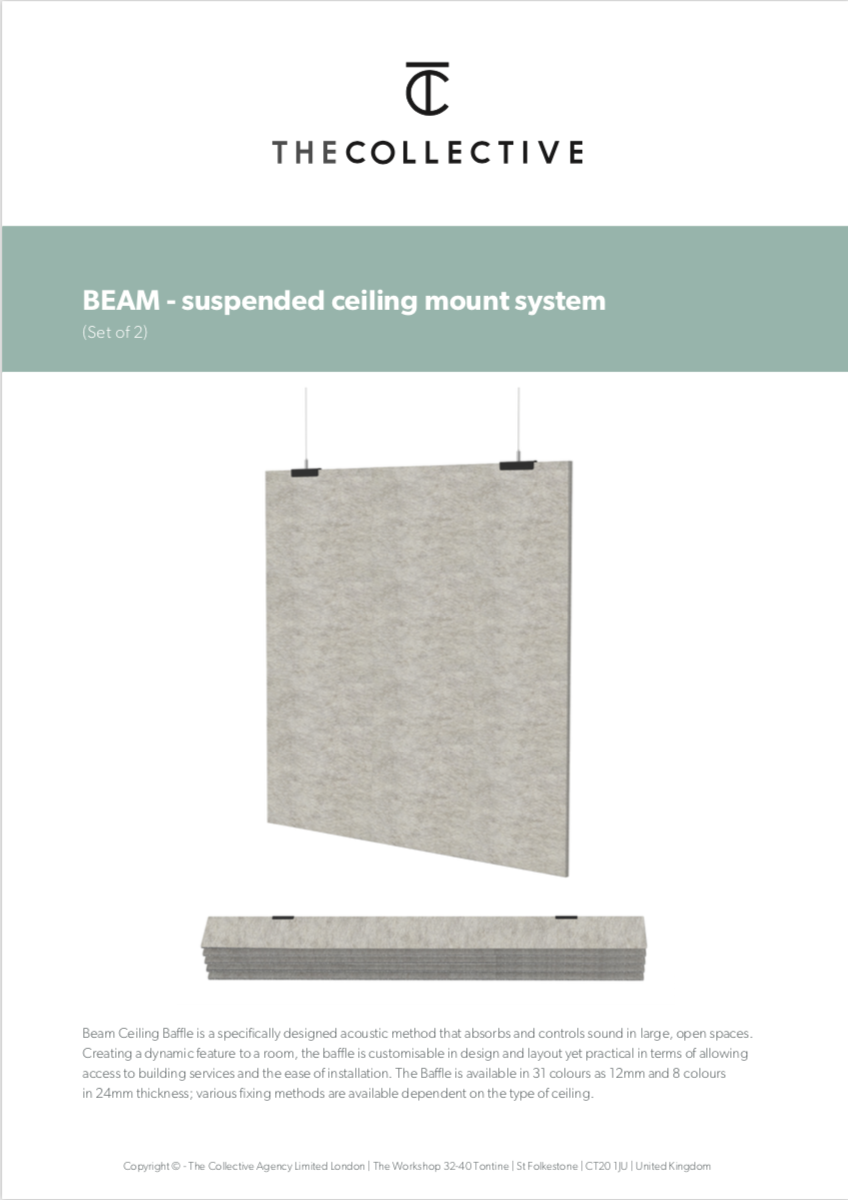 Beam installation guide (suspension)