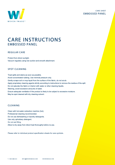 EchoPanel Embossed Care Guide